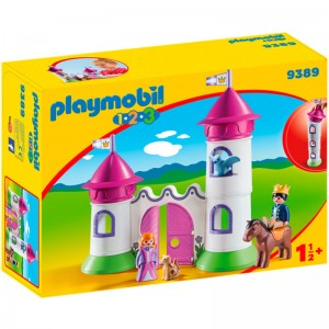 Playmobil 1.2.3 Castle with Stackable Tower