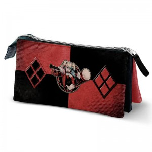 DC Comics Suicide Squad Harley Quinn triple pencil case