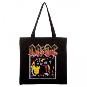 ACDC flames gym bag