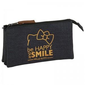 Hello Kitty Black triple pencil case