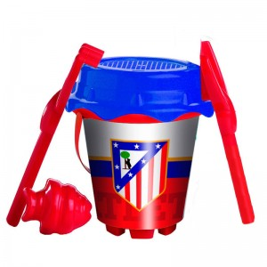 Atletico de Madrid sand bucket and moulds