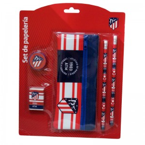 Atletico Madrid stationary set with pencil case