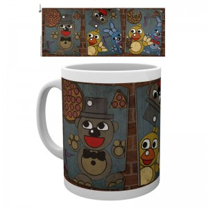 Five Nights at Freddys vintage posters mug