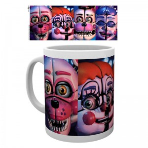 Five Nights at Freddys Sister Location faces mug