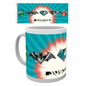 DC comics Justice League Badges mug