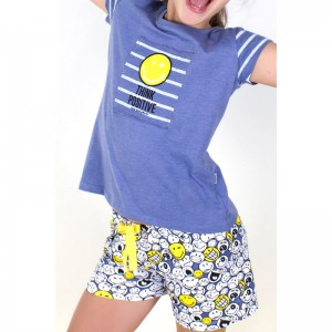 Smiley Think Positive tween pyjama