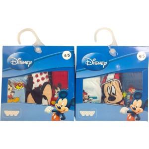 Blister 3 calzoncillos Mickey Disney surtido