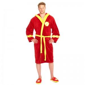 DC Comics Flash mens fleece bathrobe