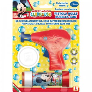 Disney Mickey bubble gun + bottle bubbles