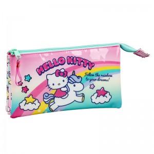 Hello Kitty Candy Unicorn triple pencil case