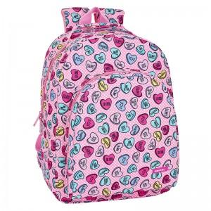 Safta Sweet Heart Pink adaptable backpack 42cm