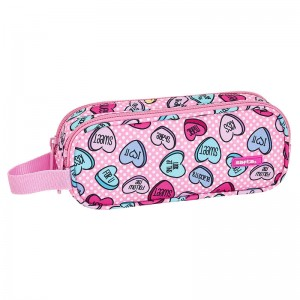 Safta Sweet Heart Pink double pencil case