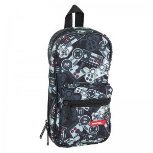 Safta Welcome Gamers Black 4 pencil case rucksack without stationery
