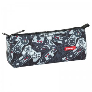 Safta Welcome Gamers Black pencil case