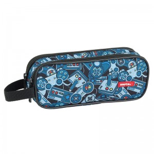 Safta Welcome Gamers Blue double pencil case