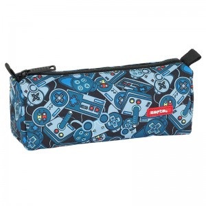 Safta Welcome Gamers Blue pencil case