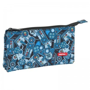 Safta Welcome Gamers Blue triple pencil case