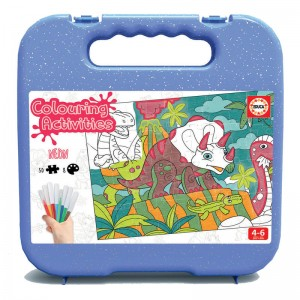 Colouring Activities Dinosaurs board game 50pz