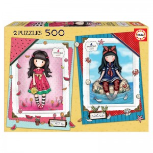 Gorjuss Every Summer Puzzle Has a Story + Little Fishes puzzle 2x500pcs