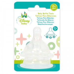Disney Mickey baby set silicone teats 3 positions