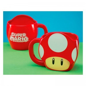 Nintendo Super Mario 3D mushroom mug