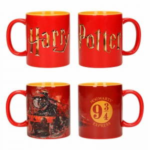 Harry Potter Hogwarts logo mugs set