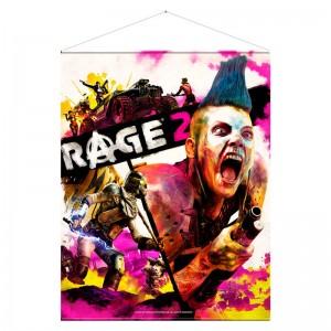 Rage 2 Keyart wallscroll