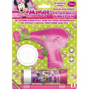 Disney Minnie bubble gun + bottle bubbles