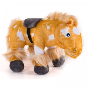 The Zenon Farm Horse Percheron plush toy with sound
