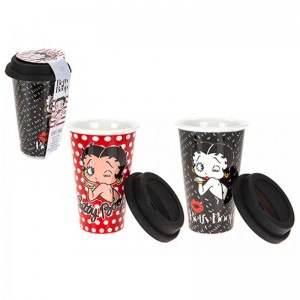 Betty Boop assorted travel glass