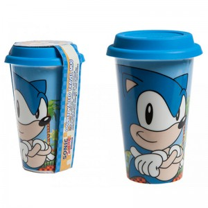 Sonic the Hedgehog travel glass
