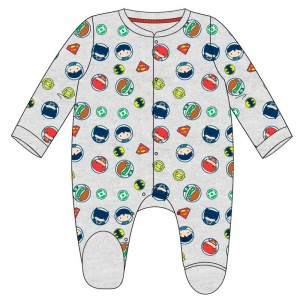 DC Comics Justice League interlock baby body