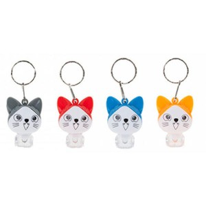Cat assorted light keychain