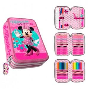 Disney Minnie triple pencil case