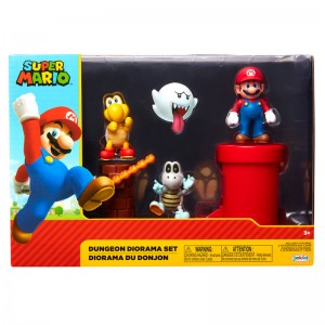 Mario Bros Dungeon diorama set
