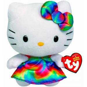 Ty Beanie Babies Hello Kitty Plush Rainbow 14cm