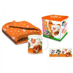 44 Cats blanket + mug set
