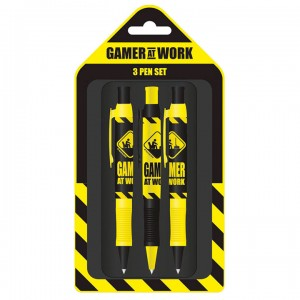 Gaming Gamer at Work set 3 pens