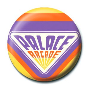 Stranger Things Palace Arcade badge