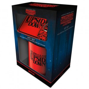 Stranger Things The World Is Turning Upside Down mug + keychain + coaster gift pack