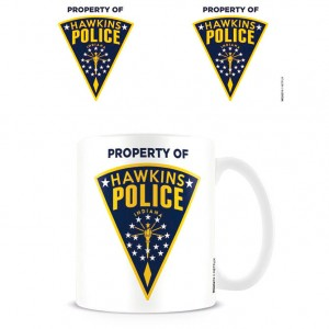 Stranger Things Hawkins Police Badge mug
