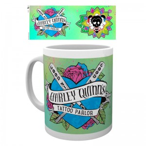 DC Comics Suicide Squad Harley Quinn Tattoo Parlou mug