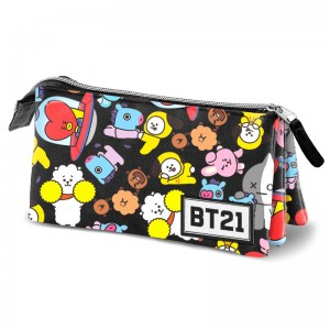 BT21 triple pencil case