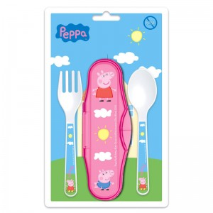Peppa Pig baby 2pcs cutlery travel set