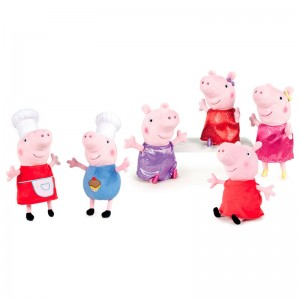 Peppa Pig Shine & Cakes assorted soft plus toy 27cm
