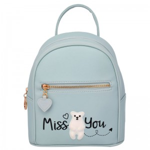 Miss You Grey backpack 22cm