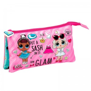 LOL Surprise Makeover triple pencil case
