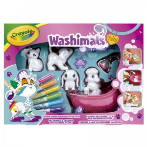 Crayola Washimals set bath + 4 pets