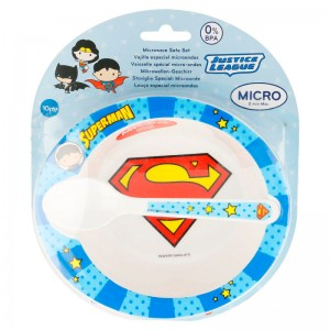 DC Justice League Superman Baby micro breakfast set