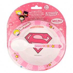 DC Justice League Supergirl Baby micro breakfast set